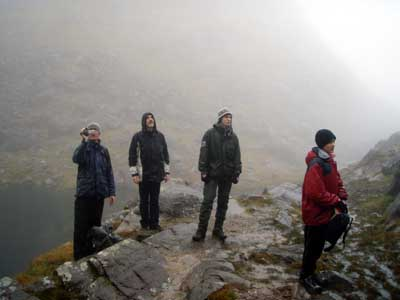 "More Vikings in Kerry, enjoying festive exercise on Ireland's highest mountain, Dad looks up, oh no !  were going up there ""!"