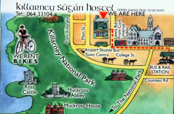 Map of killarney