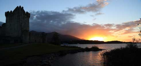 Sunset at Ross Castle