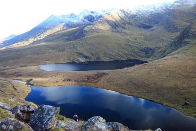 Looking down from Carrauntoohil