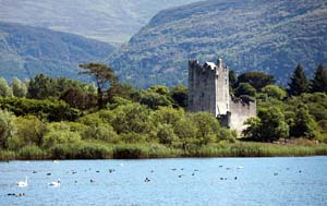Ross Castle in Killarney and the Ring of Kerry