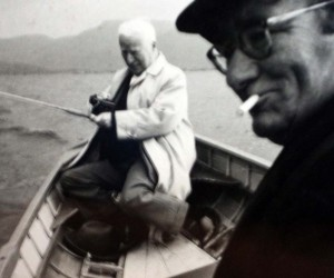 Charlie Chaplin fishing